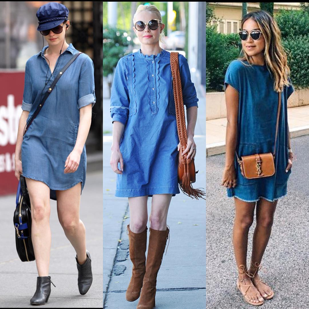 Image result for photos of women jeans dresses""