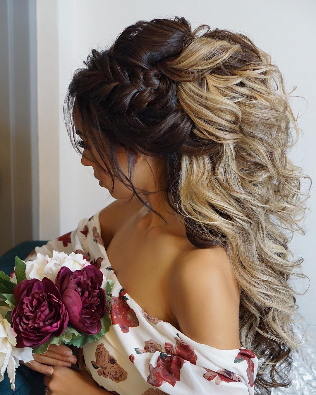 Wedding Hairstyles For Long Hair Half Up Half Down Ladylife