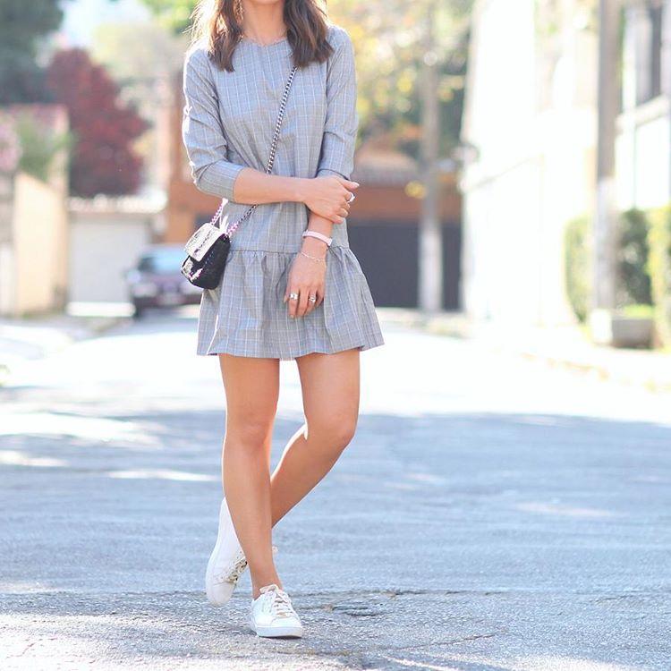 Vestido Com Tênis: Combinação Perfeita Com Essas Dicas exclusivas