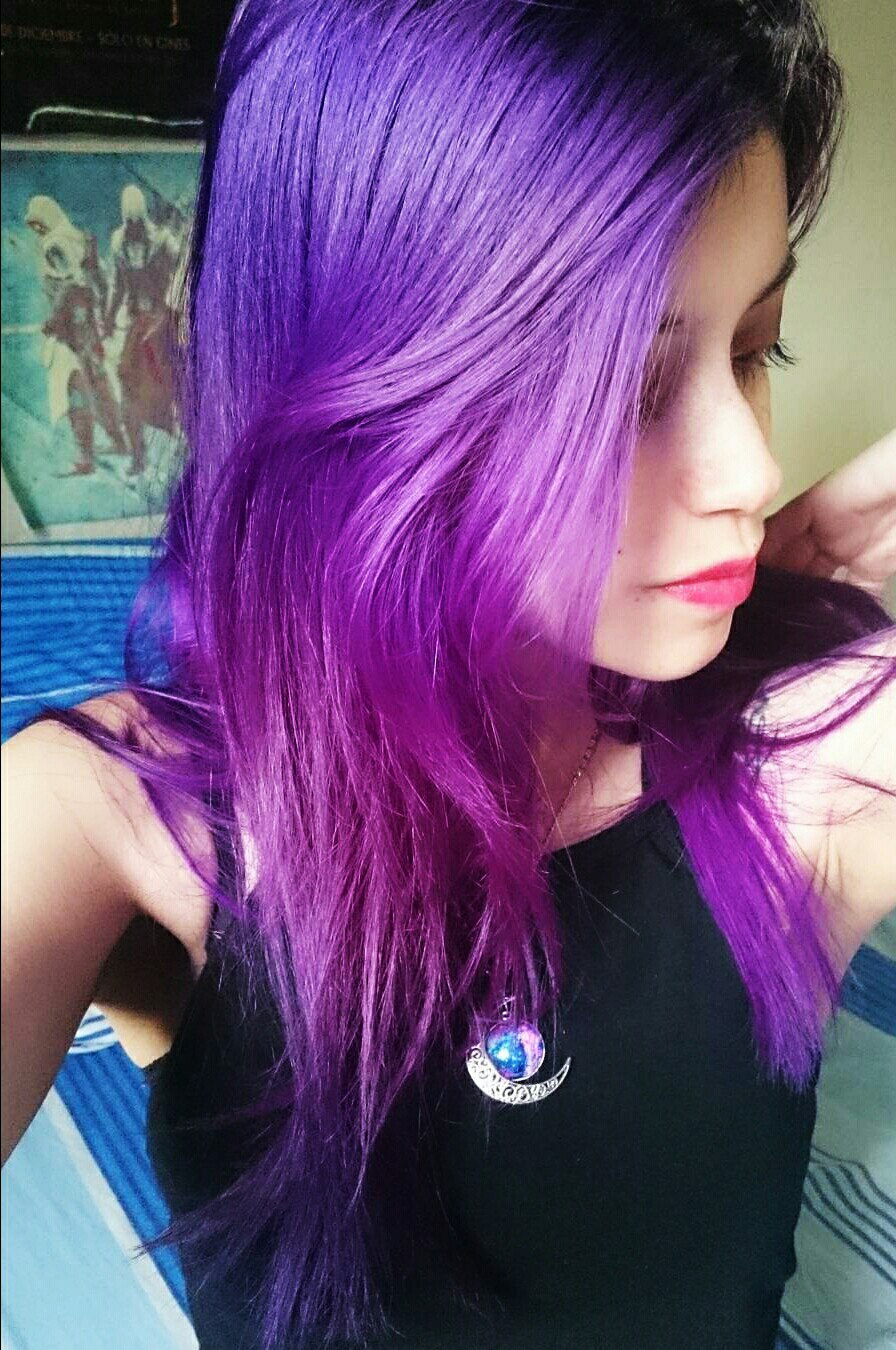 Purple Hair How To Dye Hair In Purple  Ladylife-9978