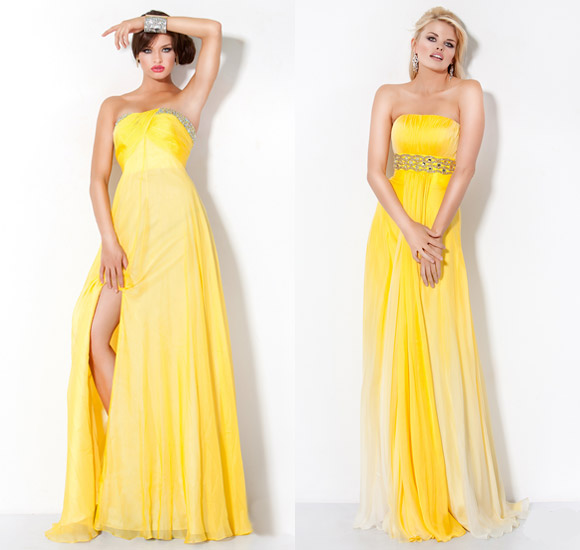 What Is Contrast With Yellow Colour In Dresses