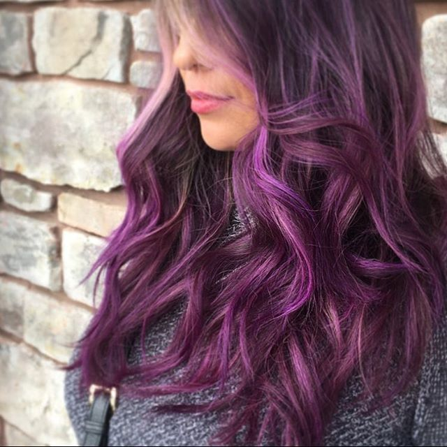 black and purple hair styles purple hair how to dye hair in purple ladylife 1538