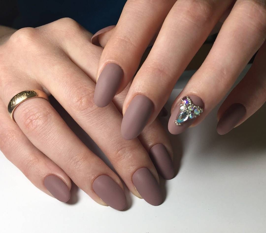 Matte French Design for Short and Long Nails - Matte Nails 2018: Trendy Designs For Long Or Short Nails LadyLife