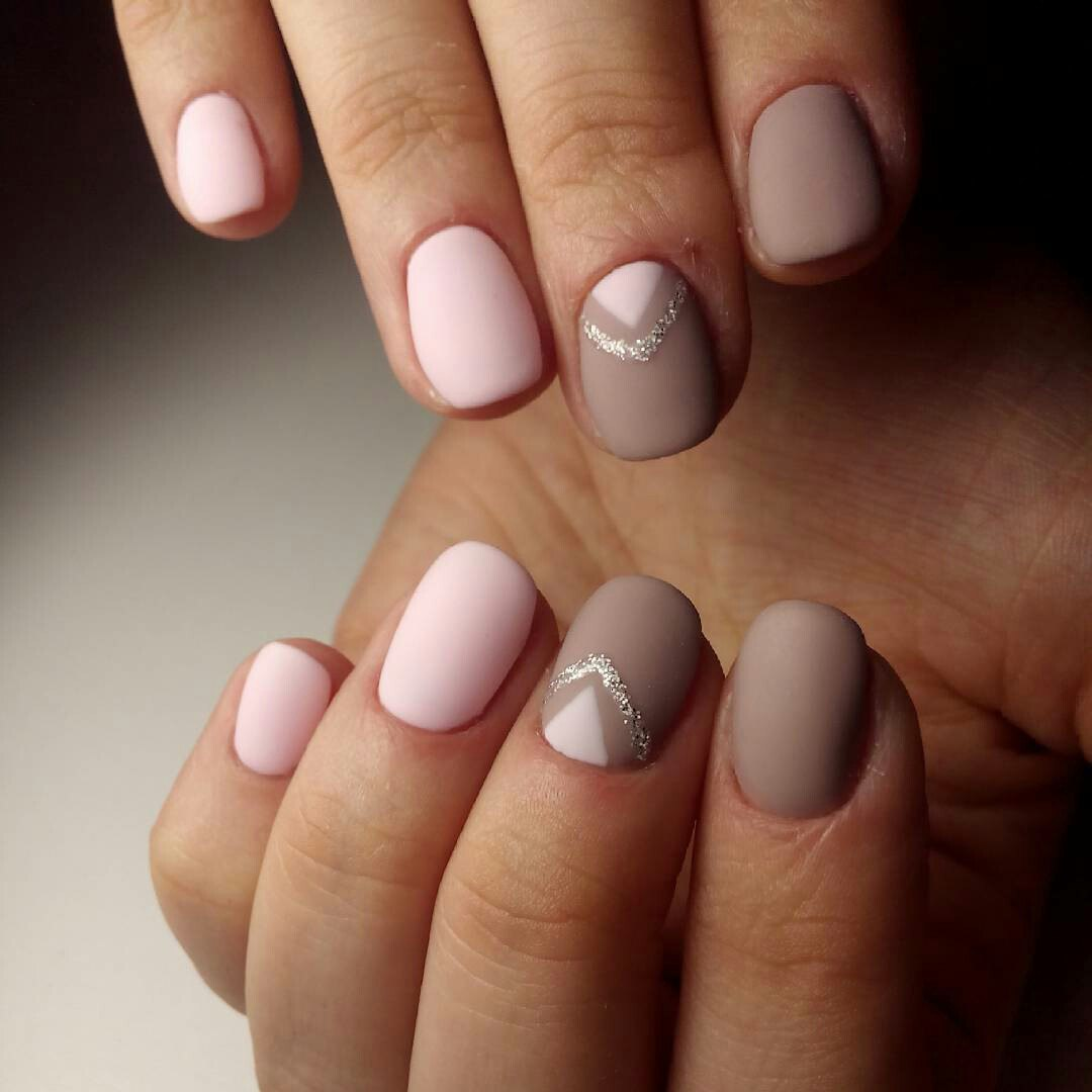 """The oval matte nails does not need special treatment. It is better to do  manicure without additional decorative elements """"weighing"""" the design. - Matte Nails 2018: Trendy Designs For Long Or Short Nails LadyLife"""