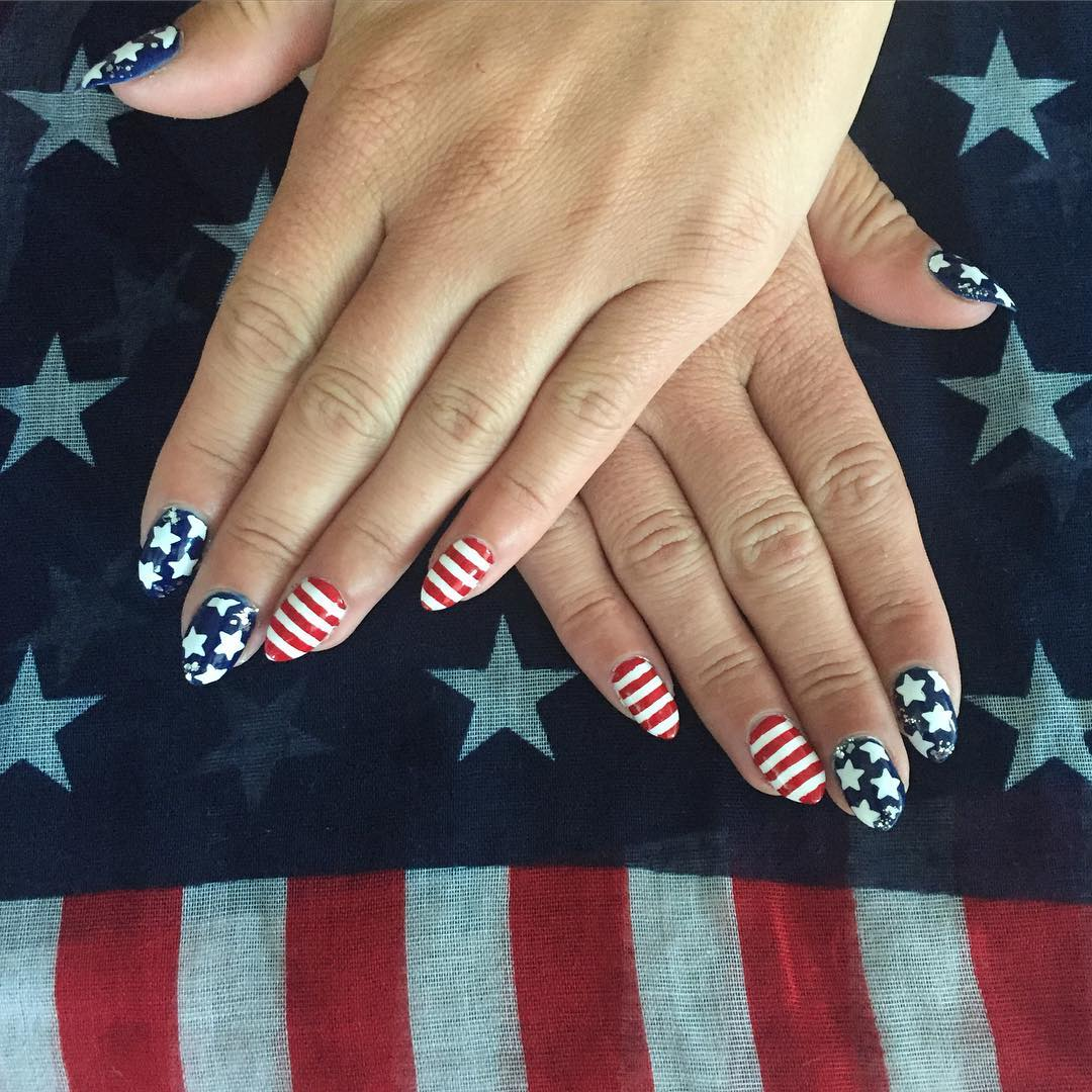 4th Of July Nails Cute Nail Art And Design With American Flag Ladylife