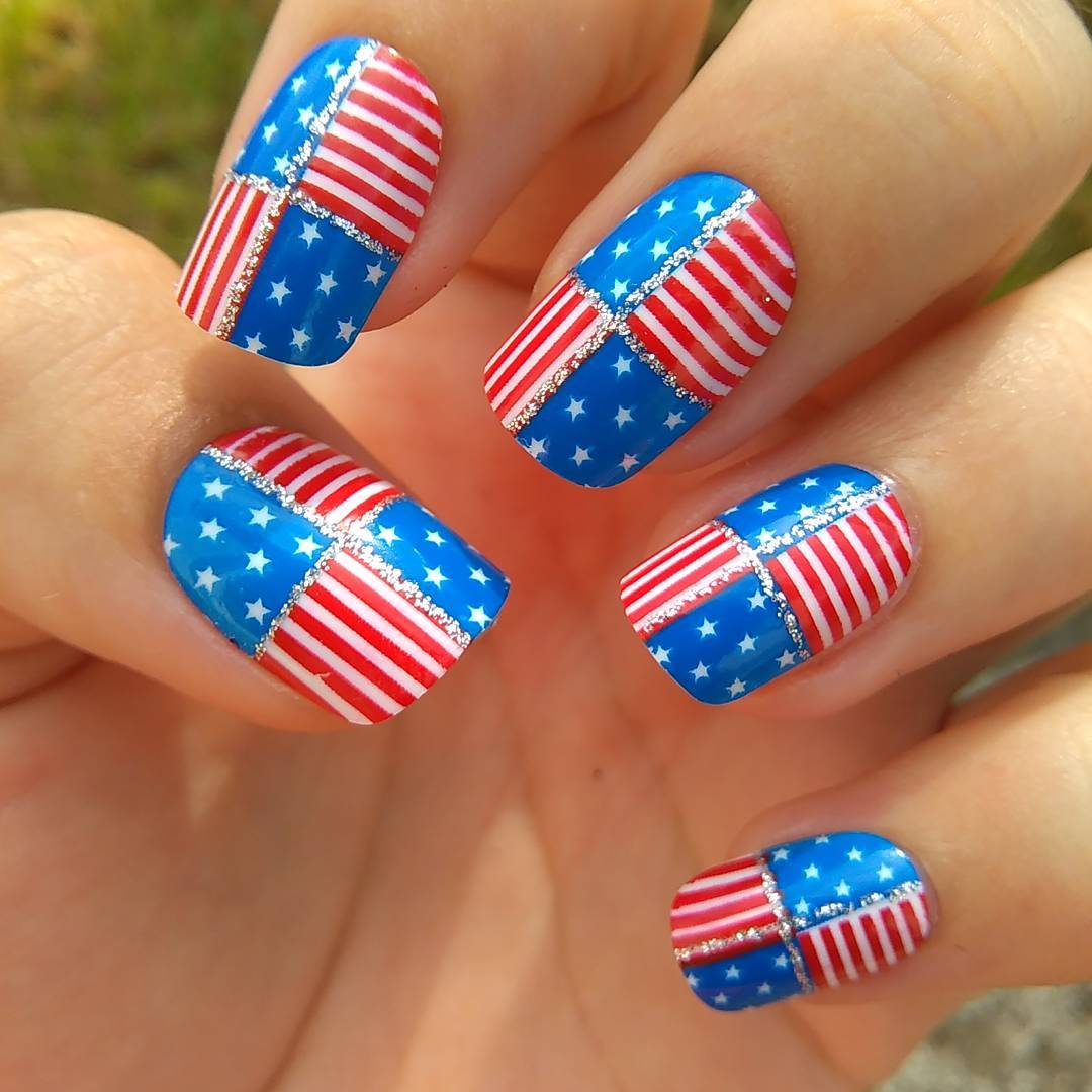4th of July Nails: Cute Nail Art and Design with American Flag ...