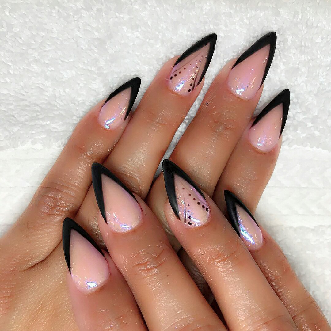 mountain peak nail designs ... - Nail Shapes 2018: New Trends And Designs Of Different Nail Shapes