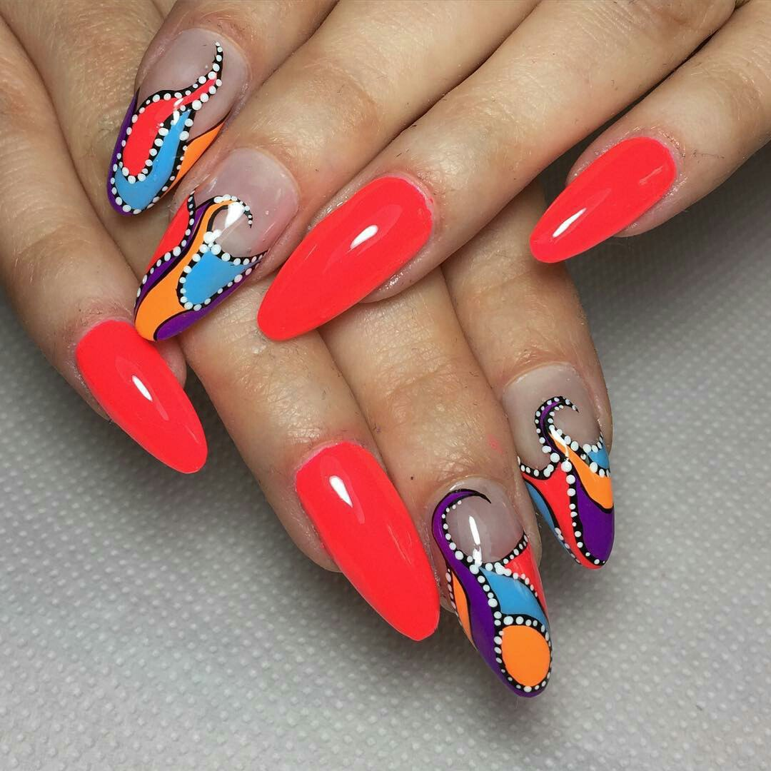 Multicolor Nails with Different Colors - Multi Coloured Nails: New Trend And Best Designs LadyLife