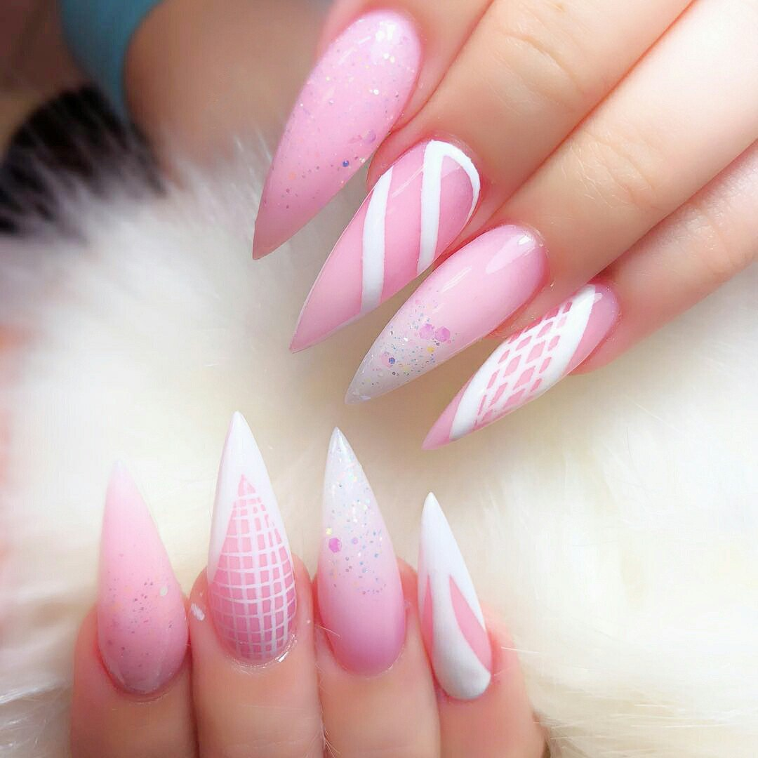 Old Fashioned Acrylic Nails Pointed Square Gift - Nail Art Ideas ...