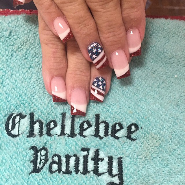 4th Of July Nails Cute Nail Art And Design With American Flag