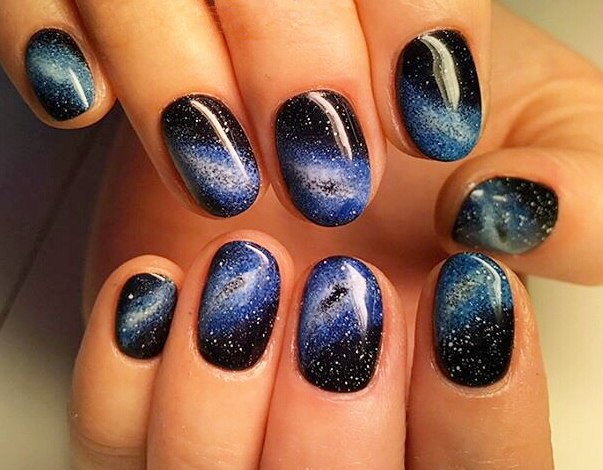 How To Paint Your Nails Galaxy Step By Tutorial