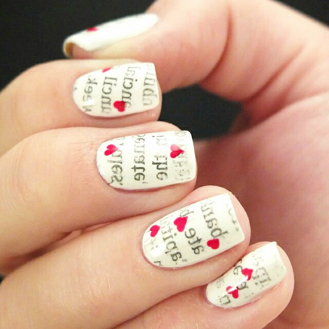 Newspaper Nail Art Original Nail Design Ladylife