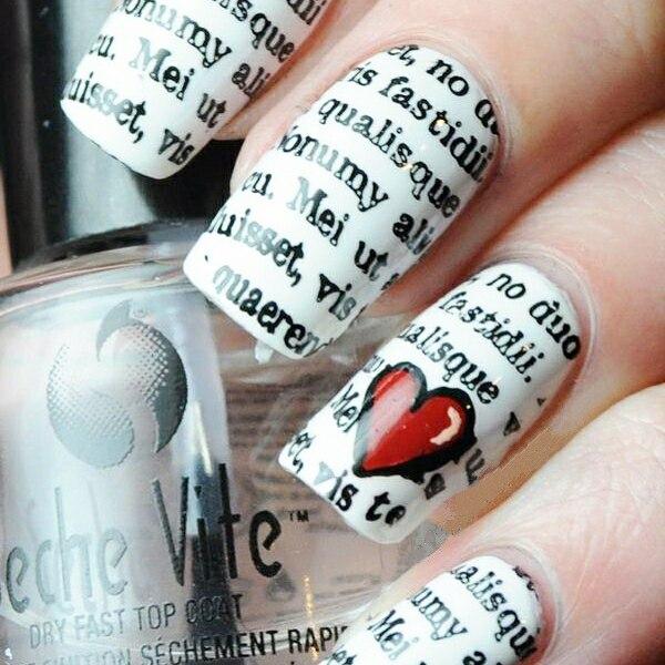 Newspaper Nail Art: Original Nail Design | LadyLife