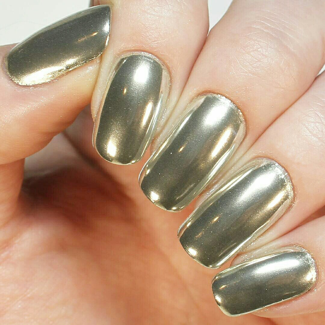 Mirror Nail Design Make Cool Metallic Or Chrome Nail Art Ladylife