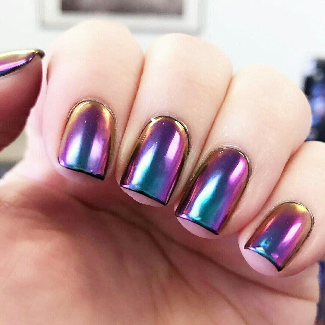 Enchanting At Home Chrome Nails Motif - Nail Polish Ideas ...