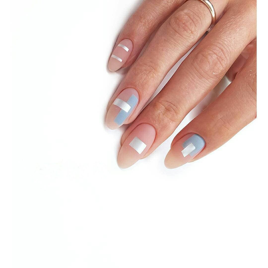 Geometric Nail Art: Beautiful Design with Tutorial | LadyLife