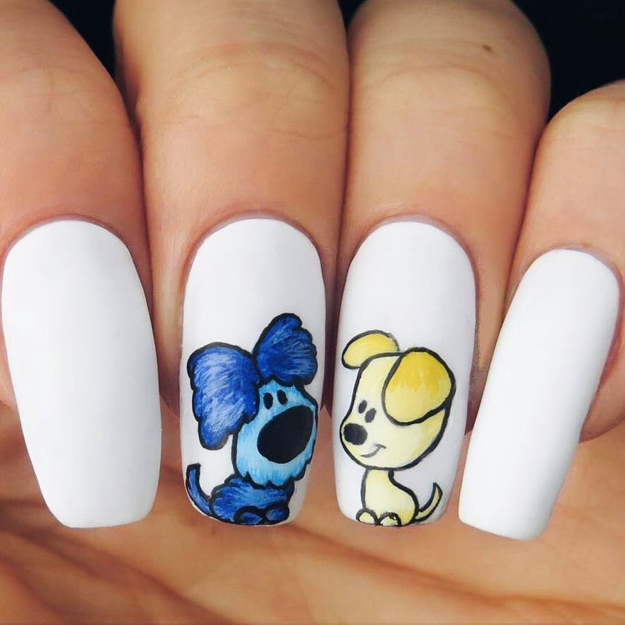 New Years Nail Designs: What Color the Dog Would Approve - New Years Nail Designs 2018: Best Art Ideas For Nails Color LadyLife