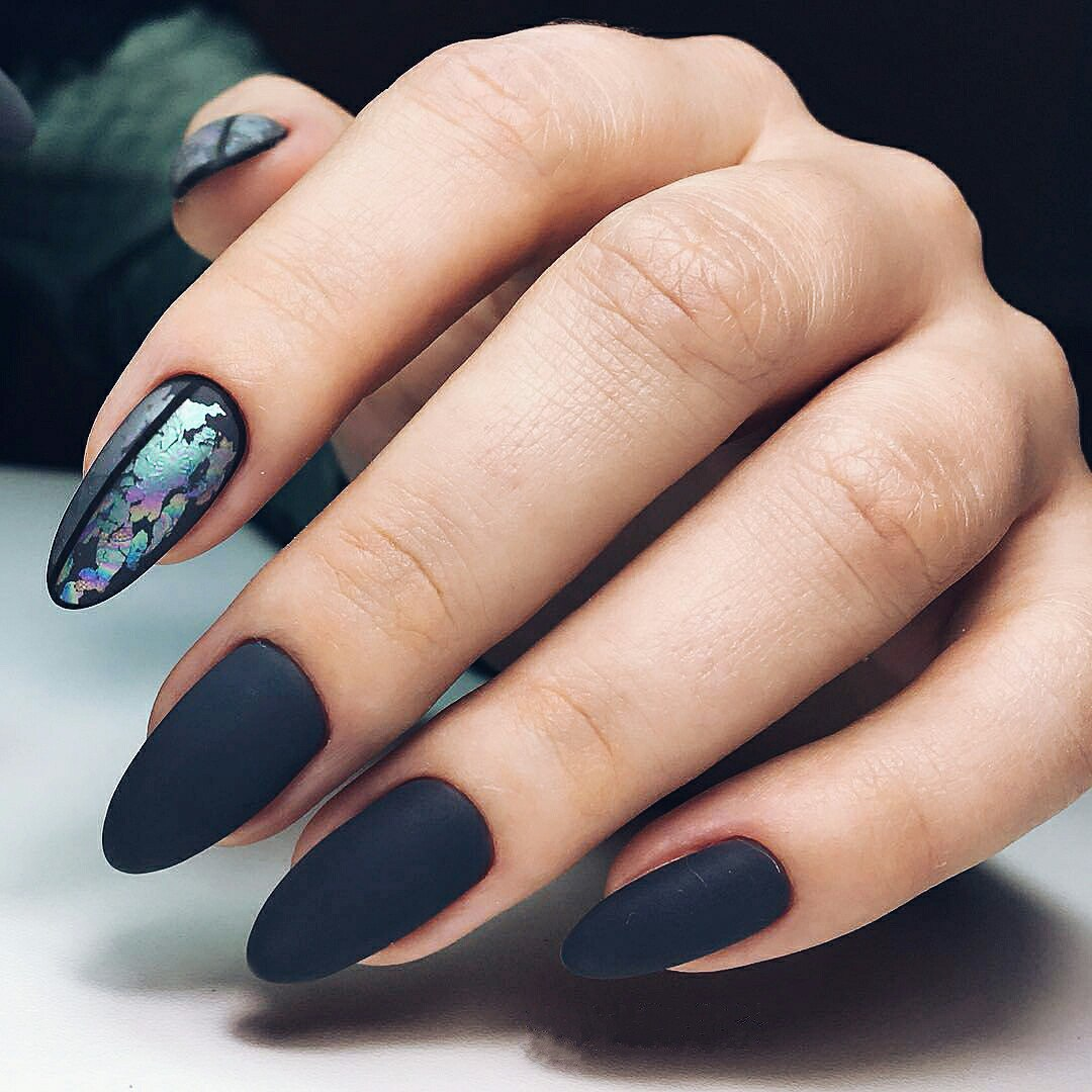 Somewhere matte manicure was performed only in dark colors as it was stated  that it looks more advantageous this way. But this pretty winter nail  colors ... - Winter Nail Designs 2018: Cute And Simple Nail Art For Winter LadyLife