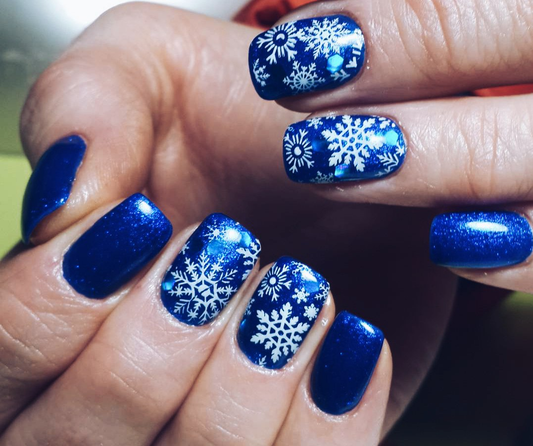 Snowflake Nail Art and Design Easy Step,by,Step Tutorial