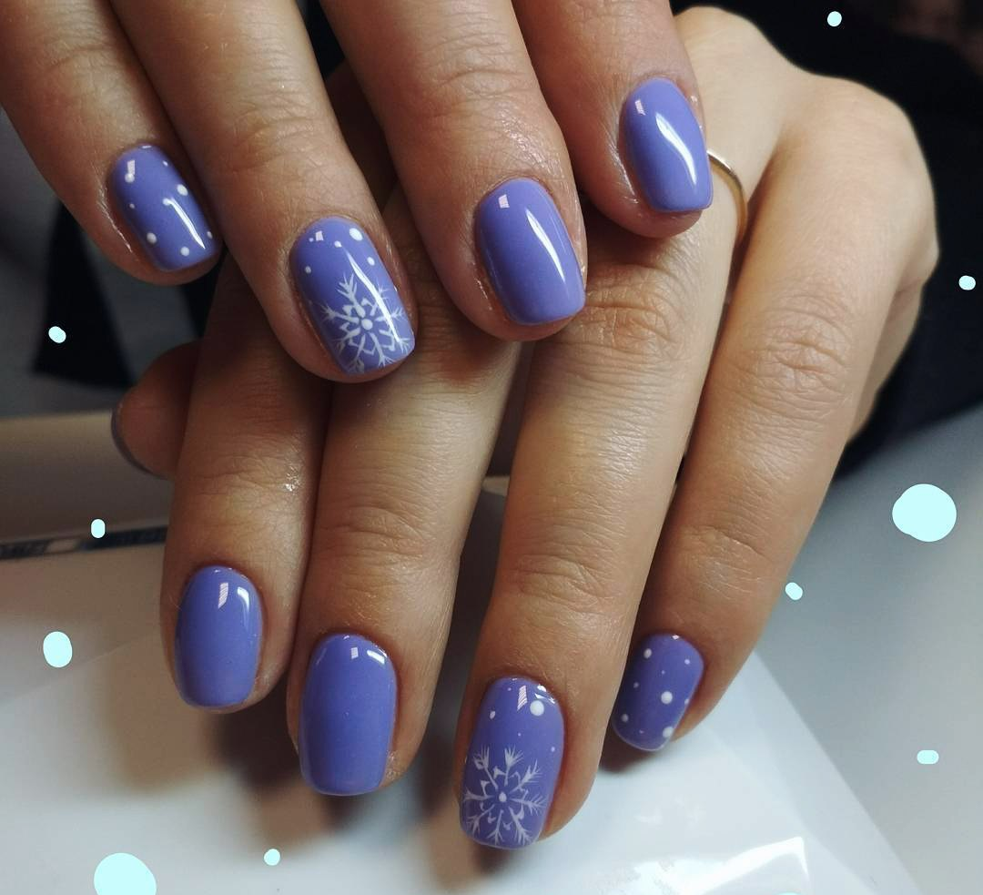 Snowflake nail art and design easy step by step tutorial ladylife the traditional winter combination is blue snowflake nails so most part of seasonal options of nail art includes all shades and versions of these colors prinsesfo Choice Image
