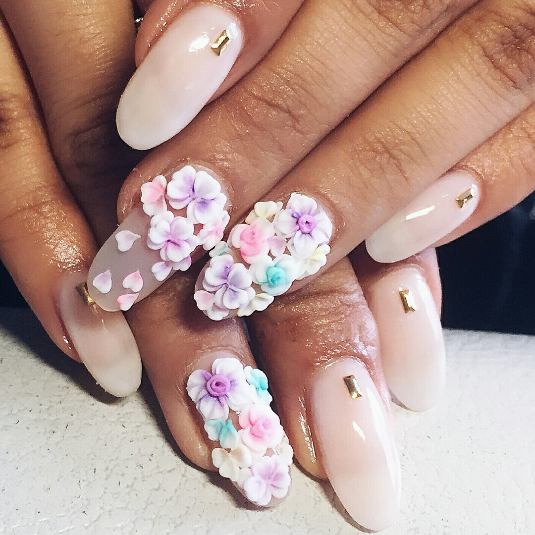3d Acrylic Flowers Nail Art Image Collections Easy Nail Designs