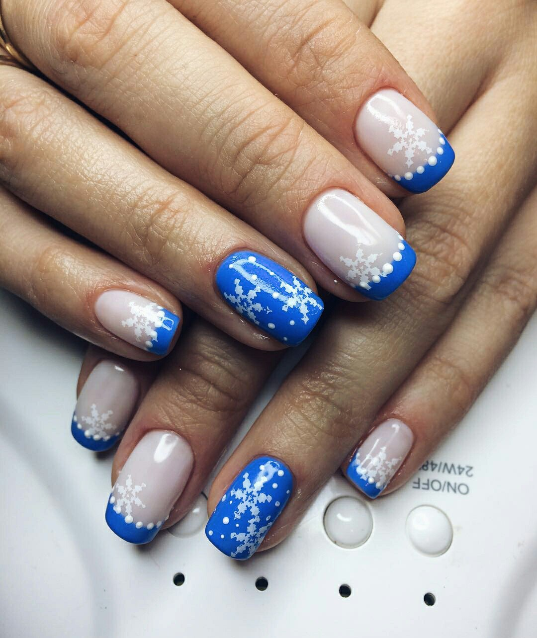 Snowflake nail art and design easy step by step tutorial ladylife also red snowflake nails have recently come into fashion prinsesfo Images