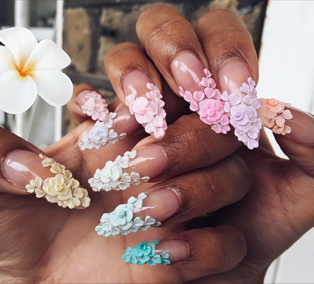 how to make 3d nail art flowers