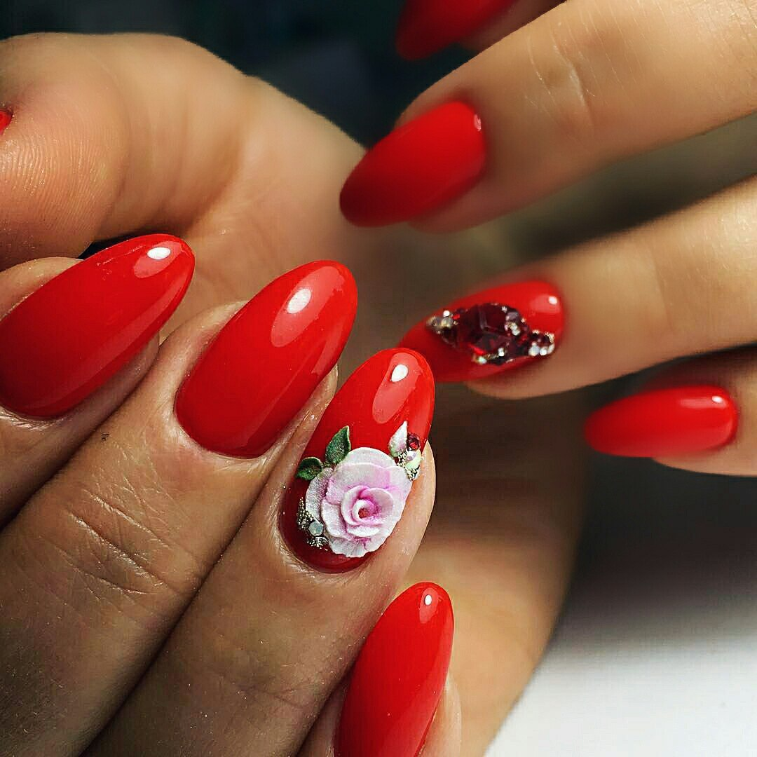 How to make 3d nail art 3d nail designs with best tutorial ladylife 3d roses nail art red 3d nail art prinsesfo Choice Image