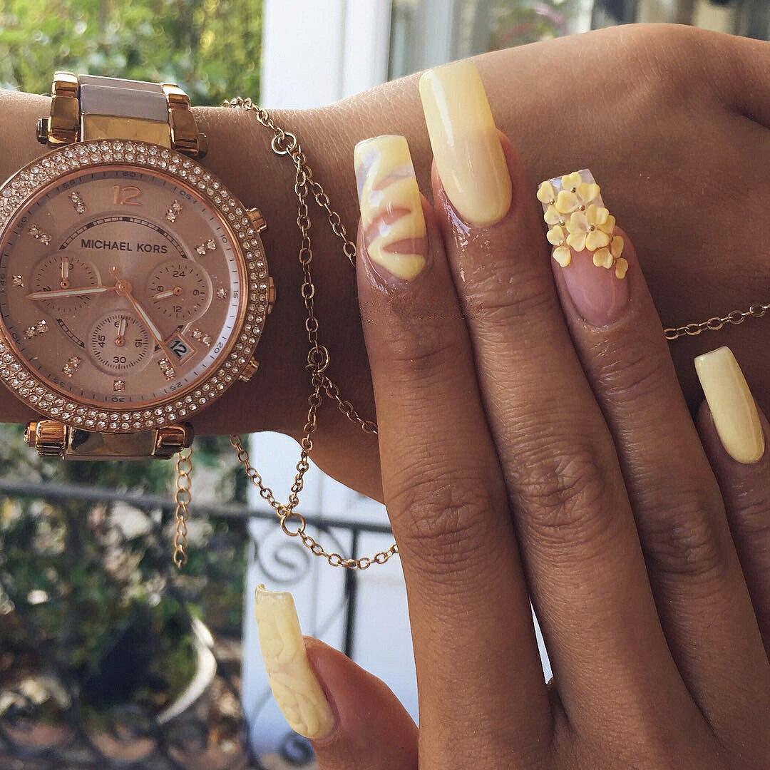 3d gold nail art