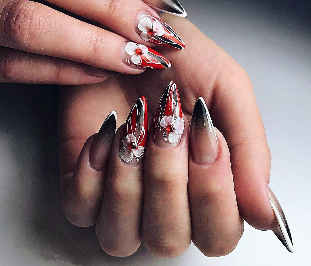 3d flowers on nails