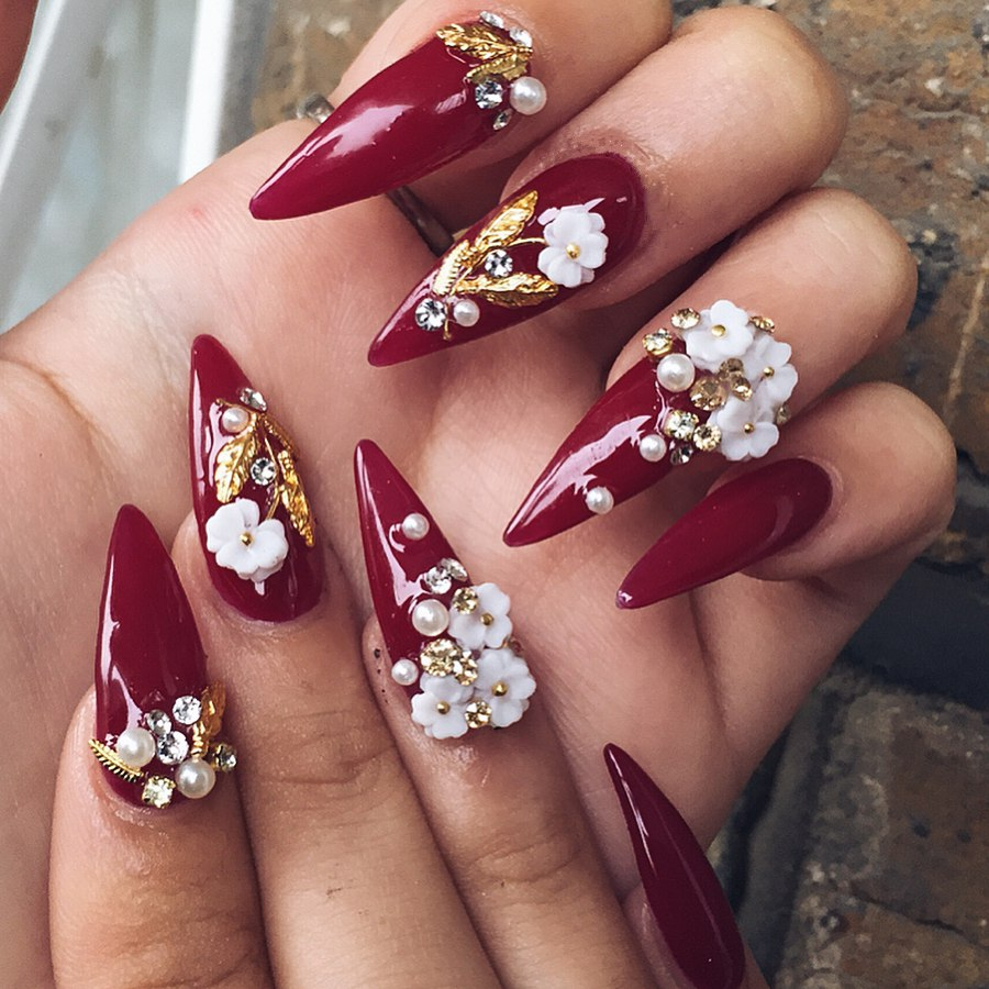 Flowers On Nails 3d Flowers Healthy