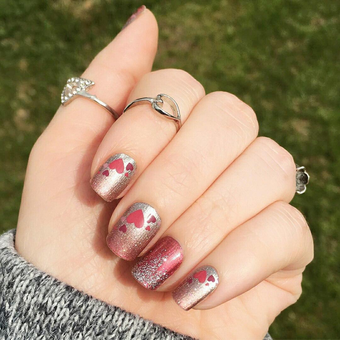 valentine special nail art