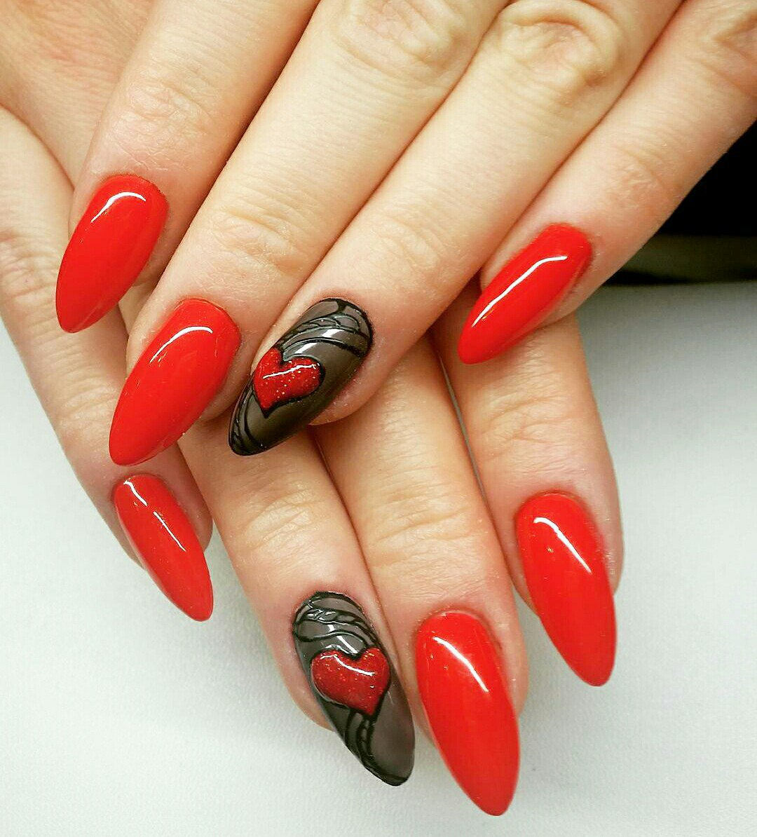 nail ideas for valentines