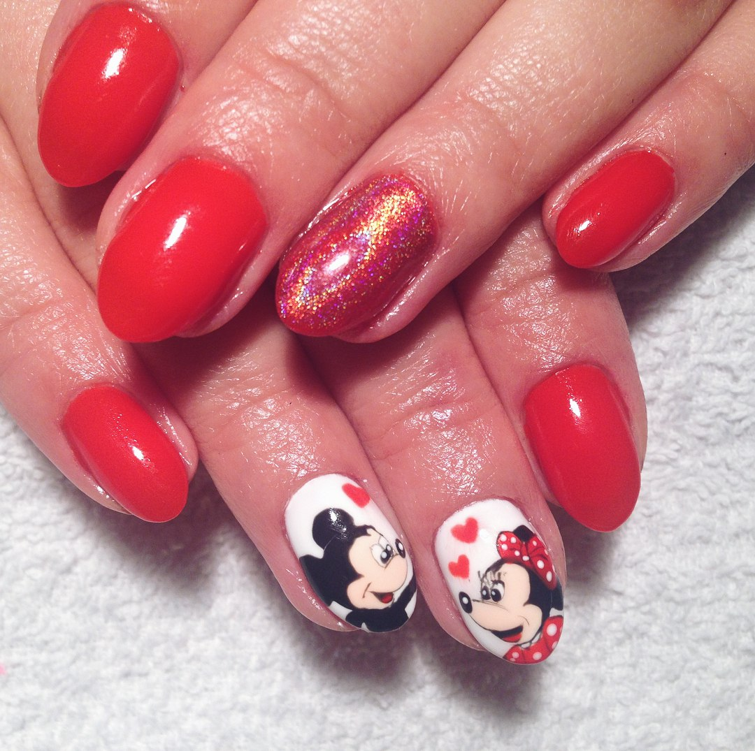 images of valentine nails