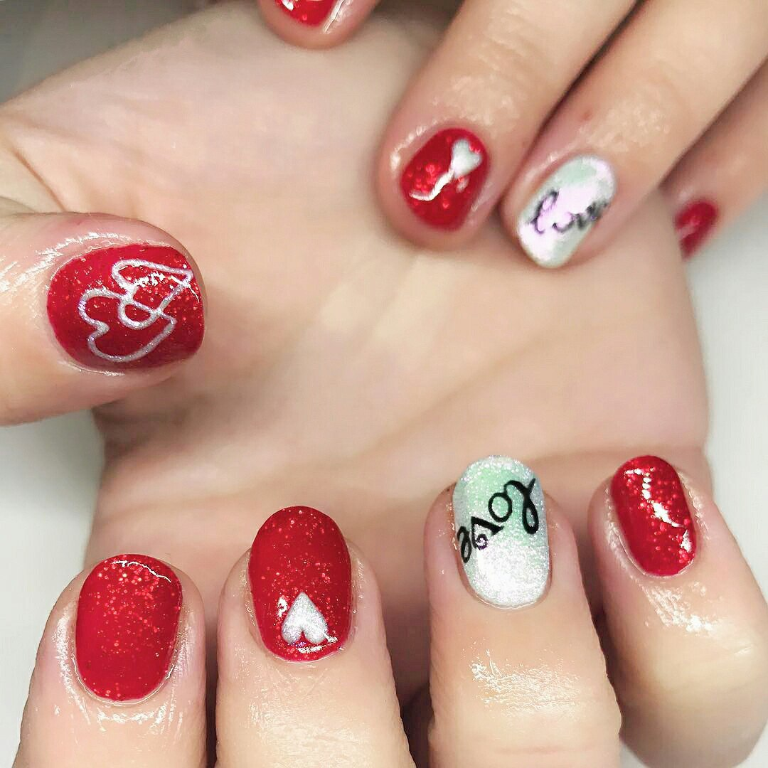 nails designs for valentines day