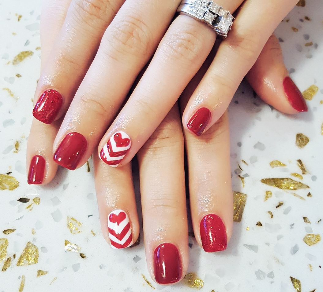 valentines day nail