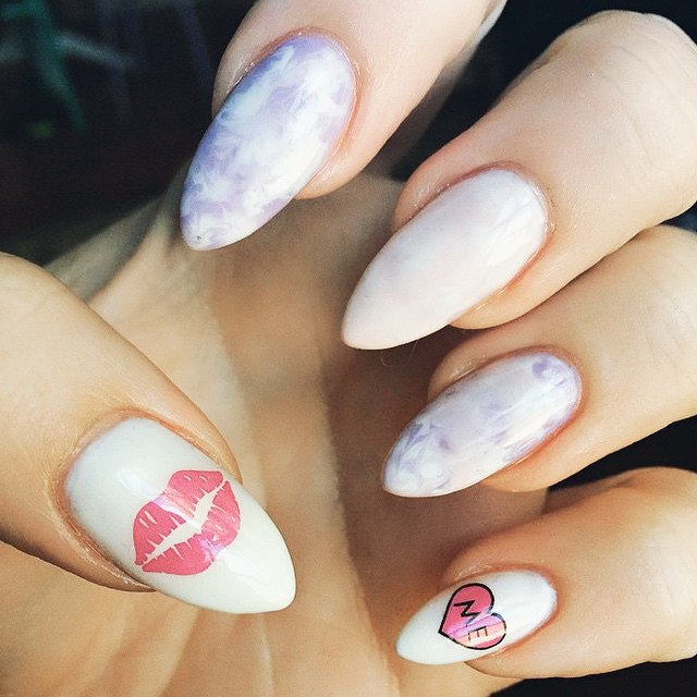 nail art valentines day