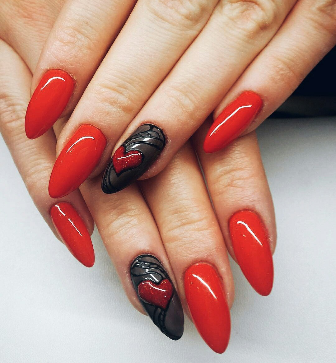 valentine nail art designs