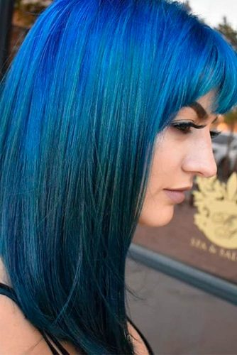 Blue Bob with Bangs