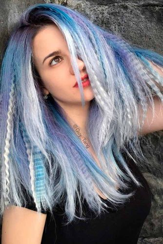 Blue, White, and Purple Streaks