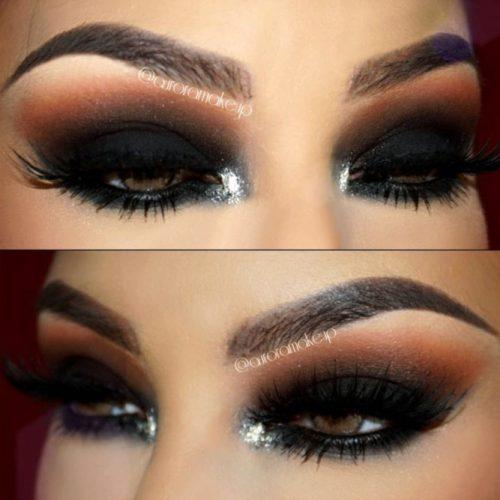 Brown and Black Eyeshadows on Brown Eyes