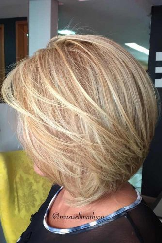 Cute Honey Blonde Balayage Bob