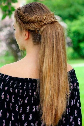 Cute Ponytail Hairstyles for Homecoming picture 3