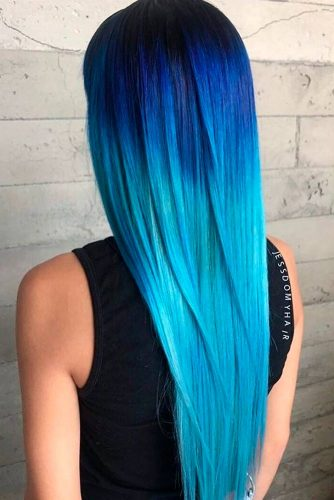 Dark to Light Blue Ombre Fade