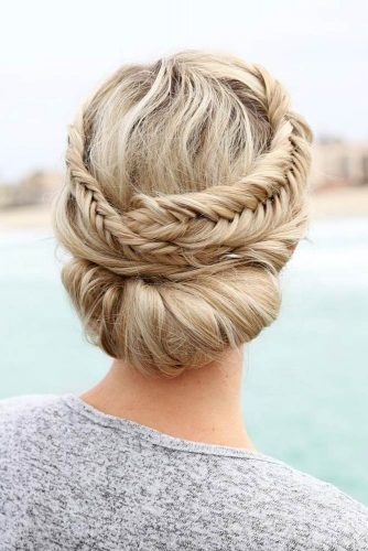 Great Braided Crown Homecoming Hairstyles picture 3