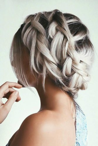 Great Braided Crown Homecoming Hairstyles picture 2
