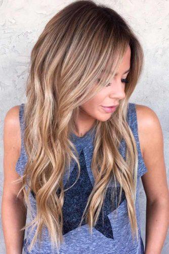 Long Hair Layers Haircut With Bangs 86