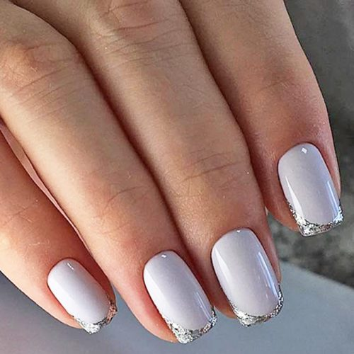Glittery Short Nail Manicures - Nail Designs For Short Nails 2018: 25 Cute Short Nail Designs Ideas