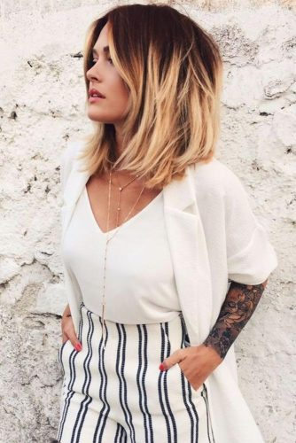 ... this style is perfect for you. The hair falls naturally over the shoulders creating the effect of outgrown bob. Medium length hairstyles can be worn ...