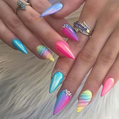 Stiletto Nail Designs 24 Cute Stiletto Acrylic Nails Ideas Ladylife